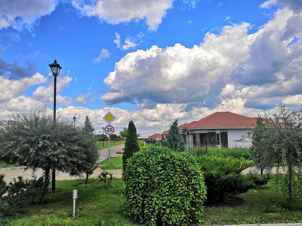 Красивое небо над поселком